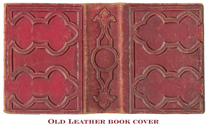 Old Book Leather Case ~ Old leather book cover by duneberry on deviantart
