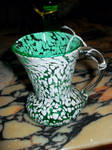 Speckled Green Pitcher