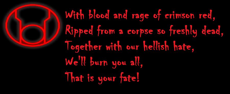 Red Lantern Oath by shozurei on DeviantArt Red Lantern Ring Oath