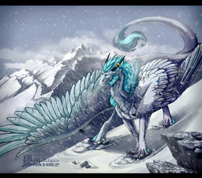 White snowfall by Briskvoice