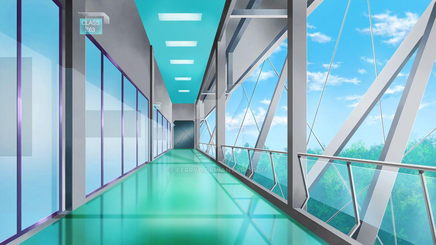 Class Room Hallway by ferryo
