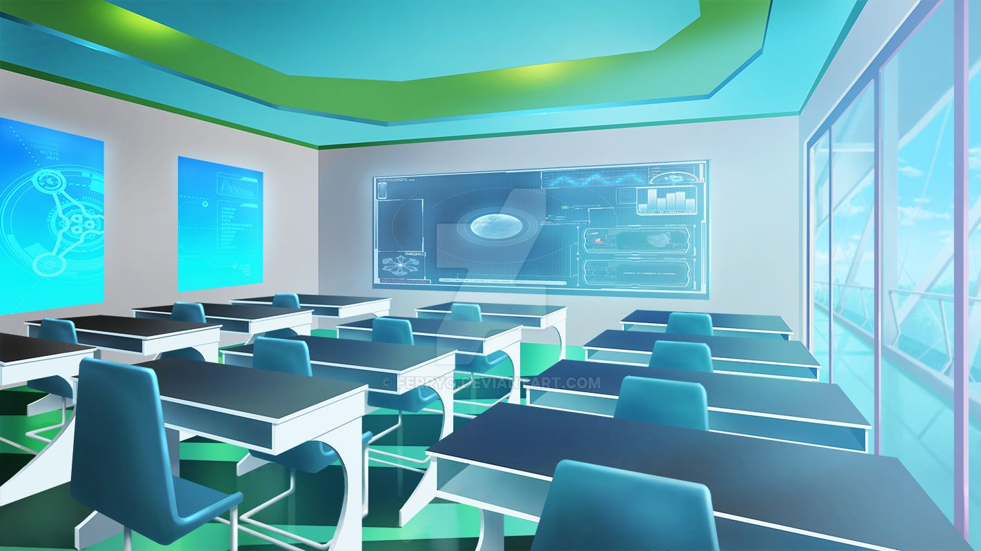 Class Room Interior 3 by ferryo