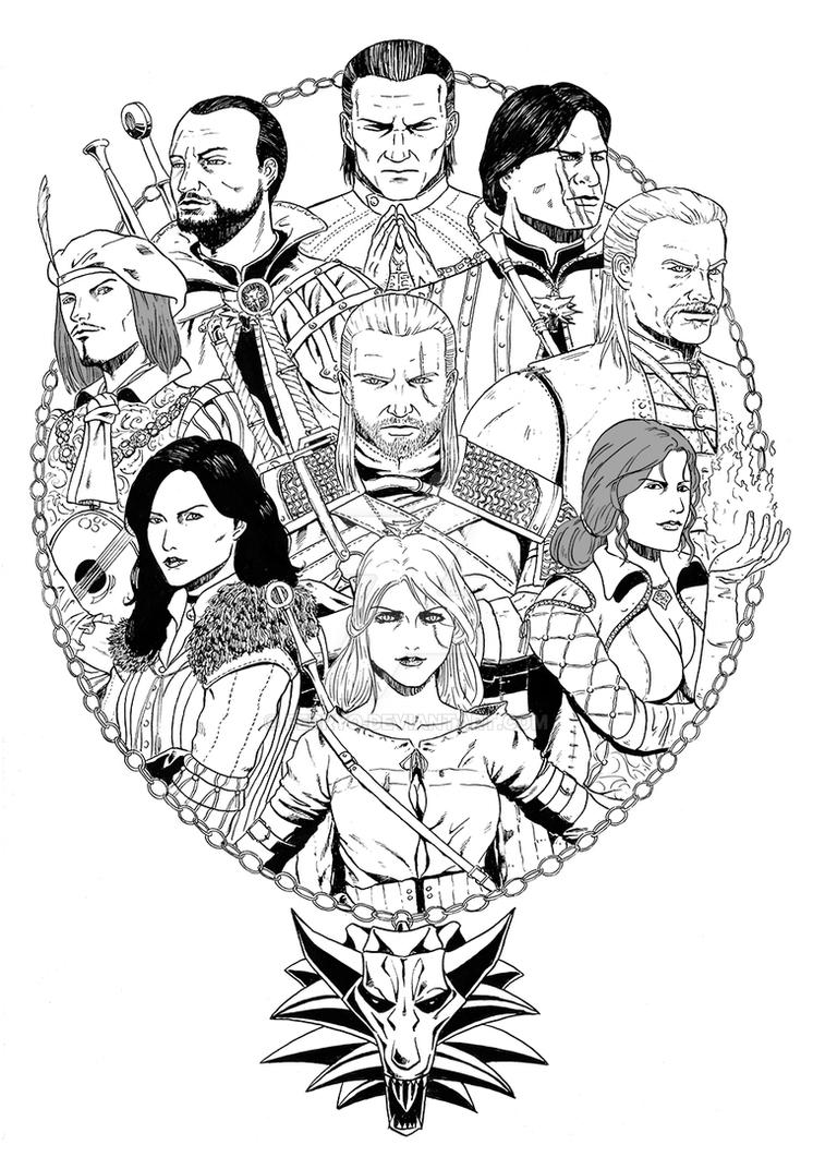 The Witcher 3 Fan Art Collage by ferryo