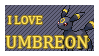 #197 - Umbreon Stamp by MrDarkBB
