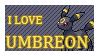 #197 - Umbreon Stamp by MrDarkBB
