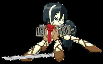 Attack on Equestria - Mikasa (WiP)