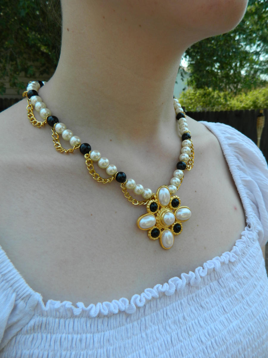 tudor inspired pearl necklace by doc ash1391 on deviantart