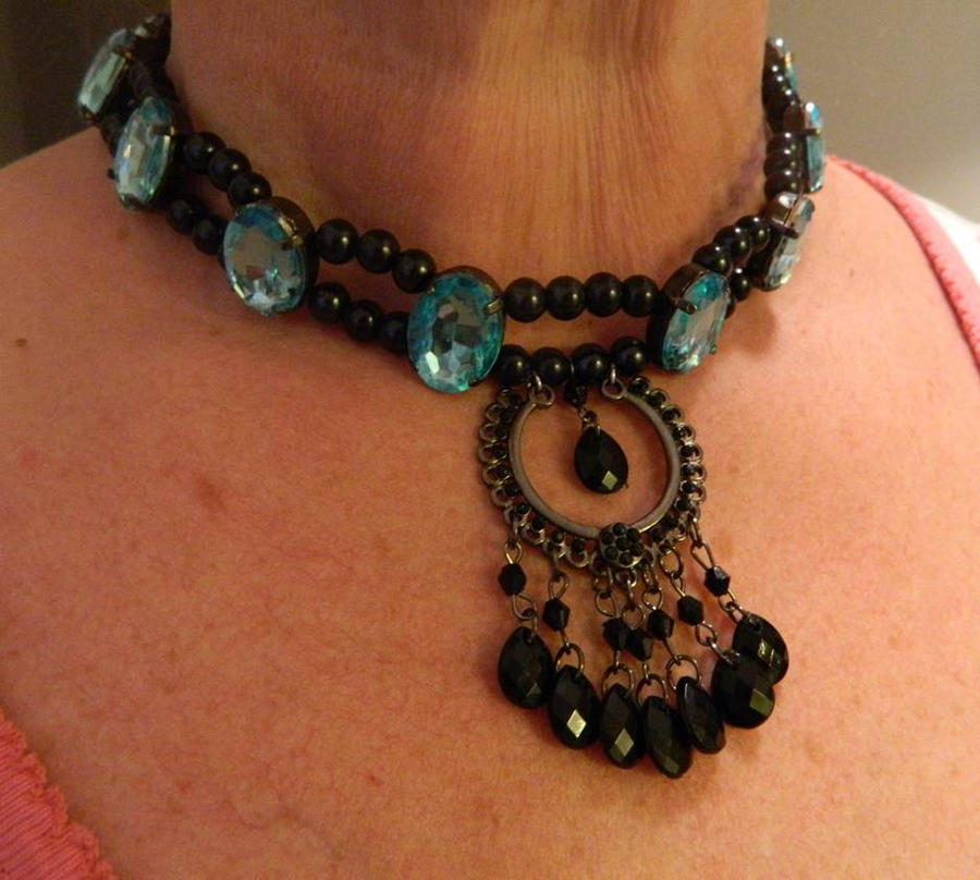 Lovely Blue Saloon Necklace by DOC-Ash1391