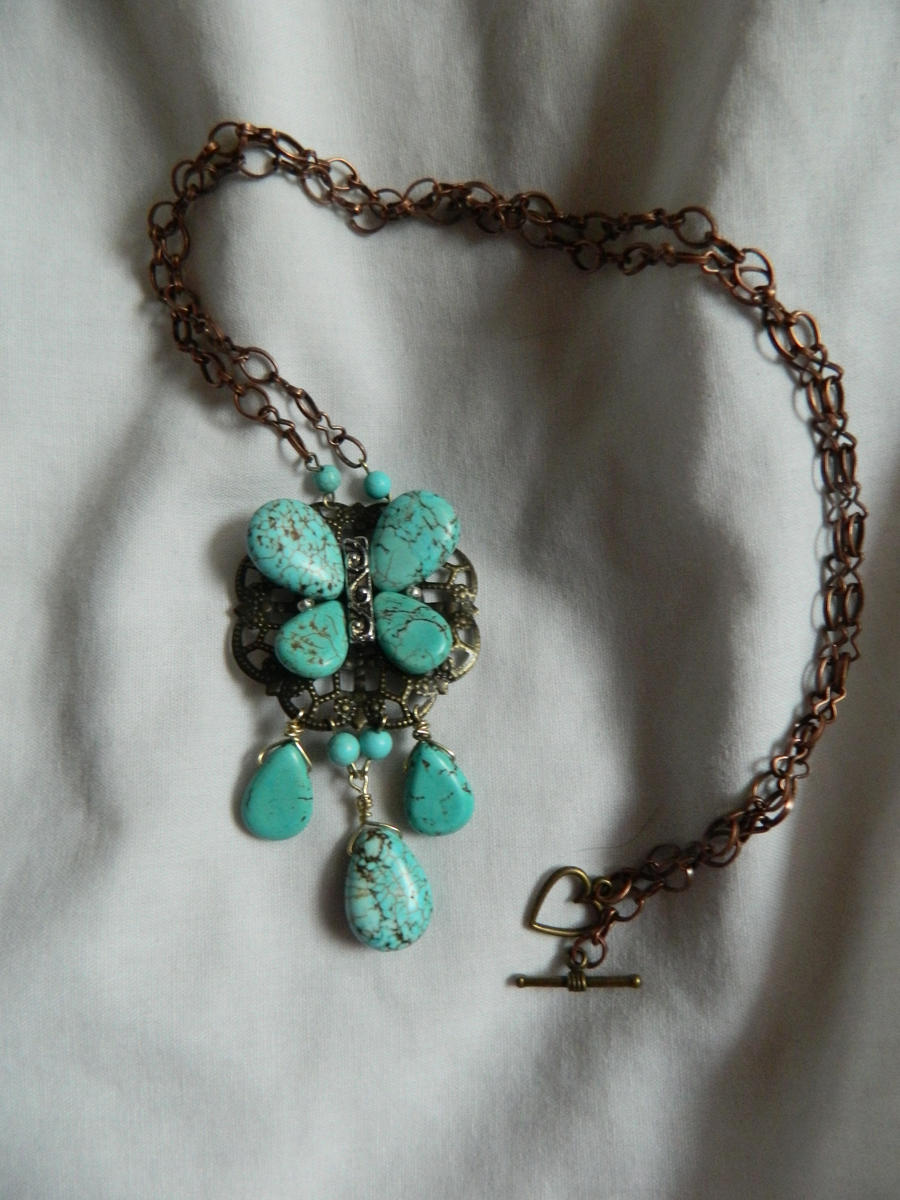 Turquoise Butterfly Pendant by DOC-Ash1391