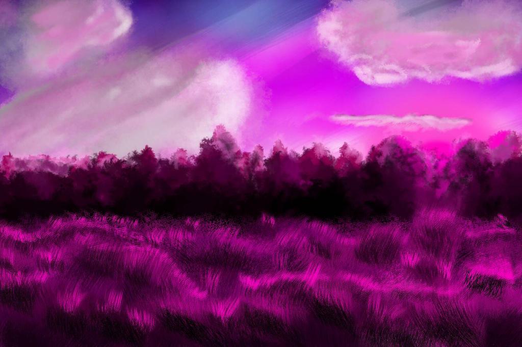 Pink fields by Tallfox15