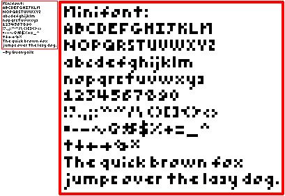 Smallest Font: Minifont by Quanyails