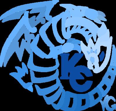 Blue Eyes White Dragon - Gradient Blue