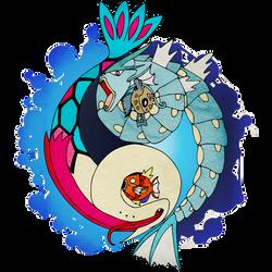 Aquatic Yin Yang - Milotic and Gyarados!