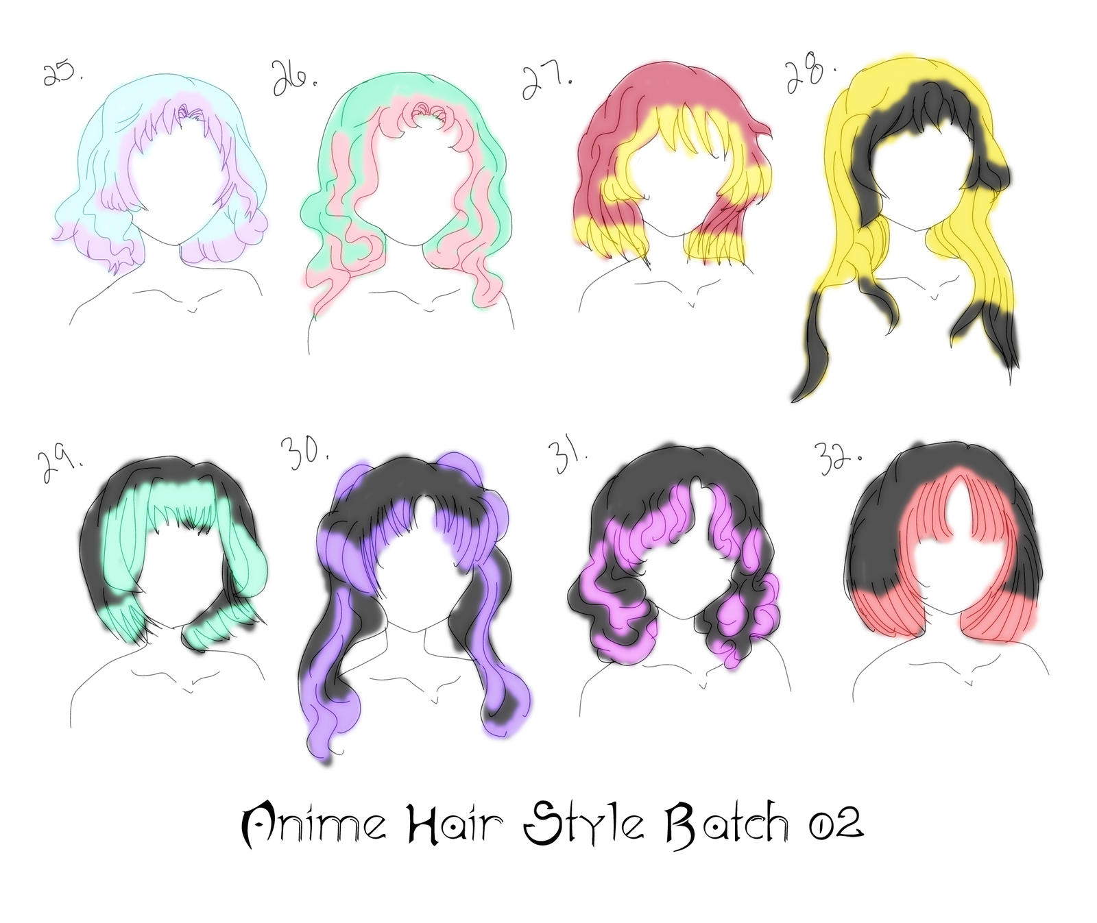 8 Anime Hair Styles By Inlovewithyaoi On Deviantart