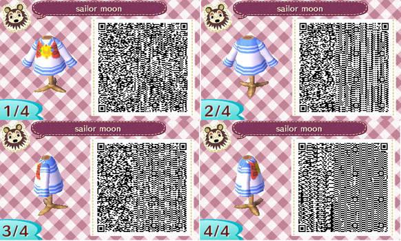 Animal Crossing Usagi Tsukino's uniform top QRcode