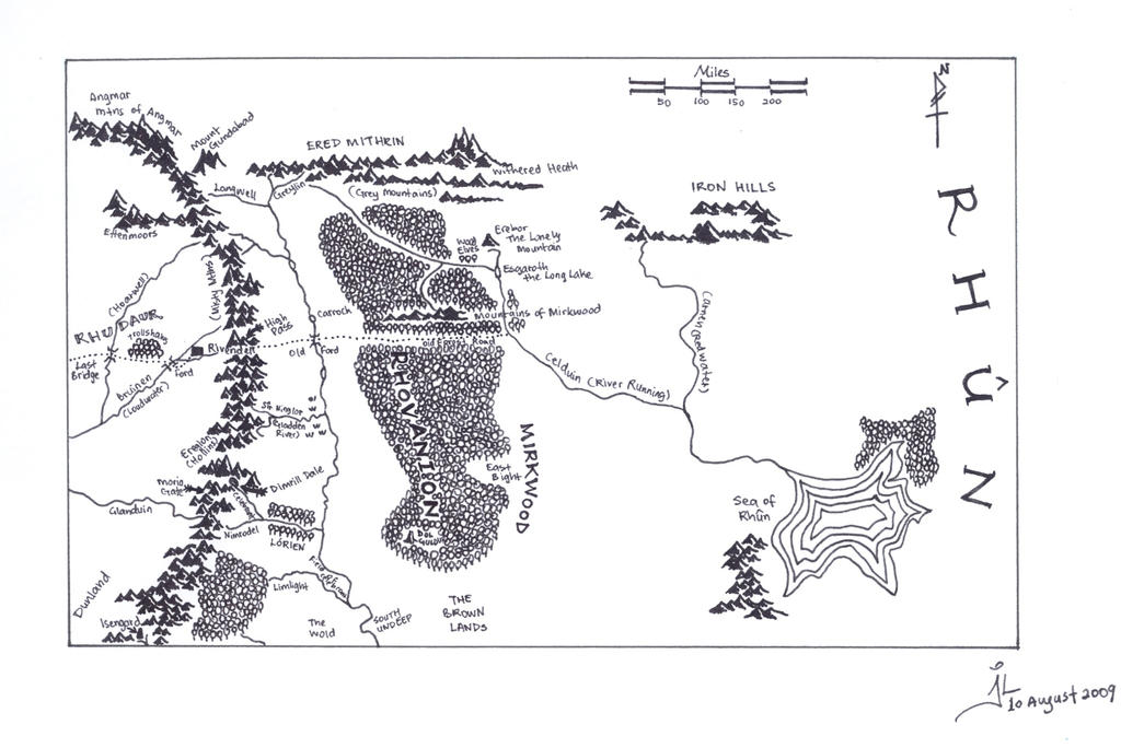 Map of Middle Earth- Rhovanion by jlel