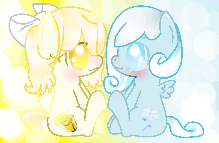 Snowdrop And GoldenRose BFF by MizueNonco