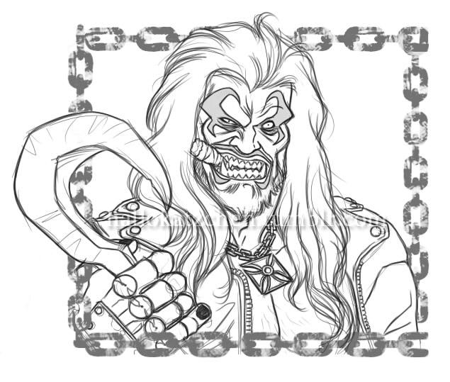 $5 Headshot Commission: Lobo by hallokatzchen