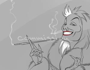 $5 Headshot Sketch: Cruella De Vil