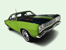 1968 plymouth road runner by immortalwolfhunter