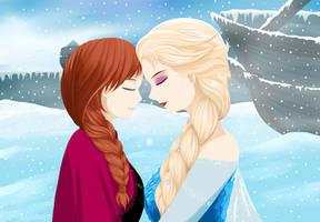 Frozen - Elsa x Anna by Keisuka