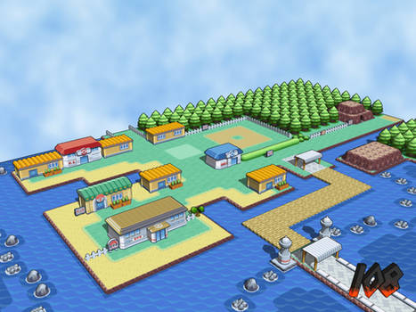 Vermillion City 3D - View 1