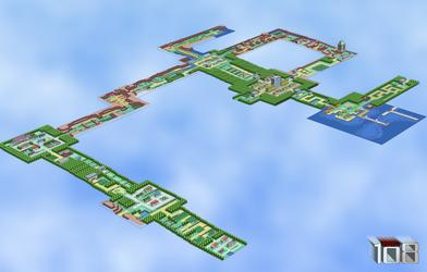 Kanto 3D WiP - Halfway Point