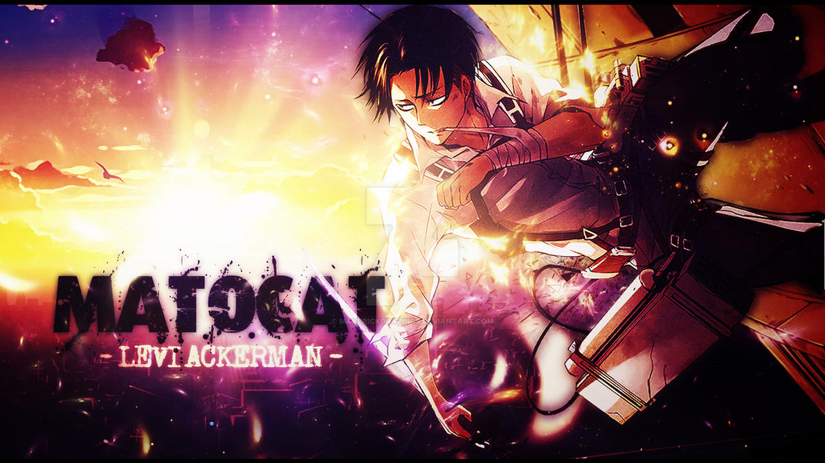 Levi Ackerman Wallpaper - Commission for MatoCat by MaverickGraphics