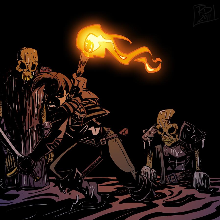 Bones, rattling in the dark