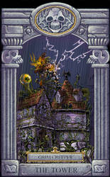 Ghoul School Tarot: Tower by RobD2003