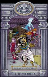 Ghoul School Tarot: World by RobD2003