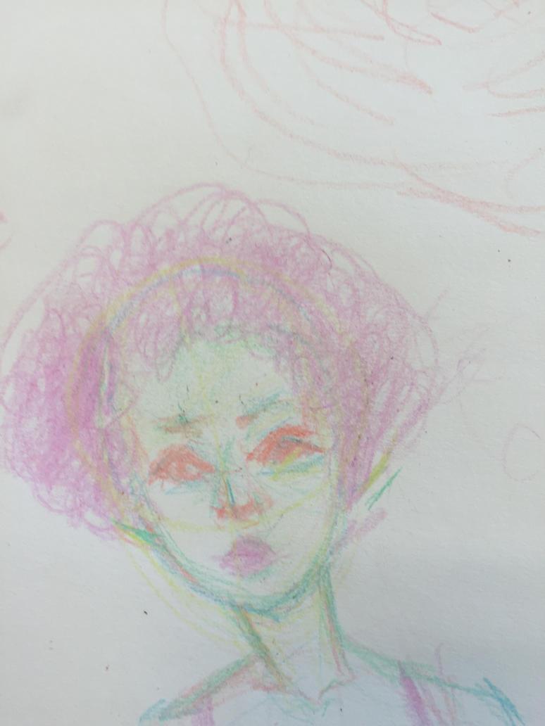 color girl by UnicornBullshizzery