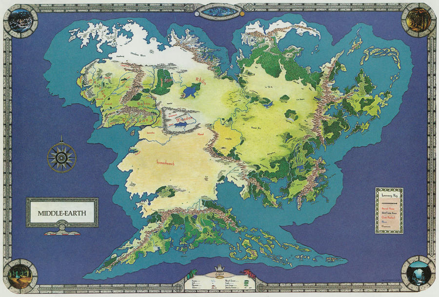 Middle earth world map 2 by spicedwinefanfic on DeviantArt