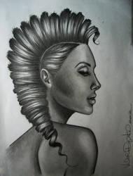 Mohawk girl. by vdepatie