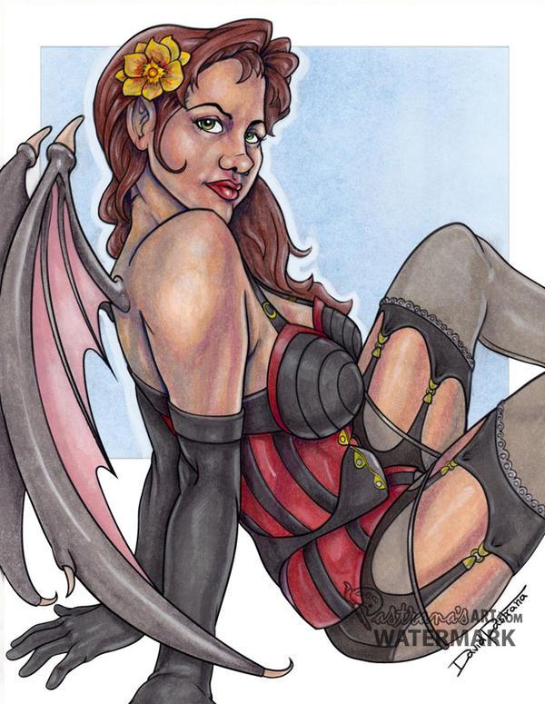 Vampire girl color by Pastranas-Art
