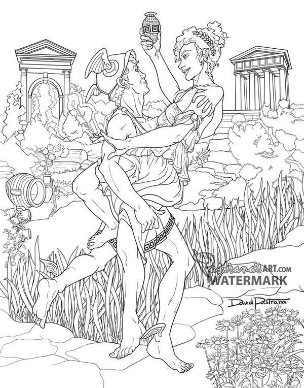 Mercury and psyche - Greek myth by Pastranas-Art