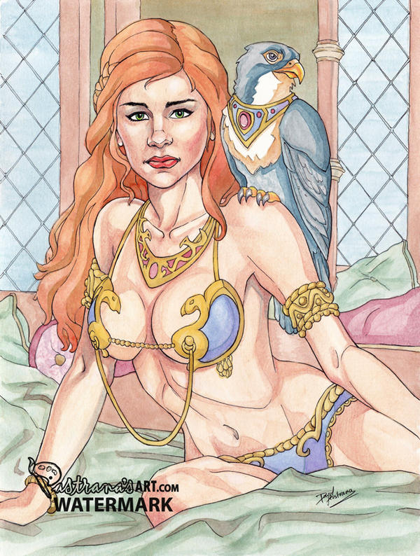 Arate in her palace chamber - Maidens of fortuna by Pastranas-Art