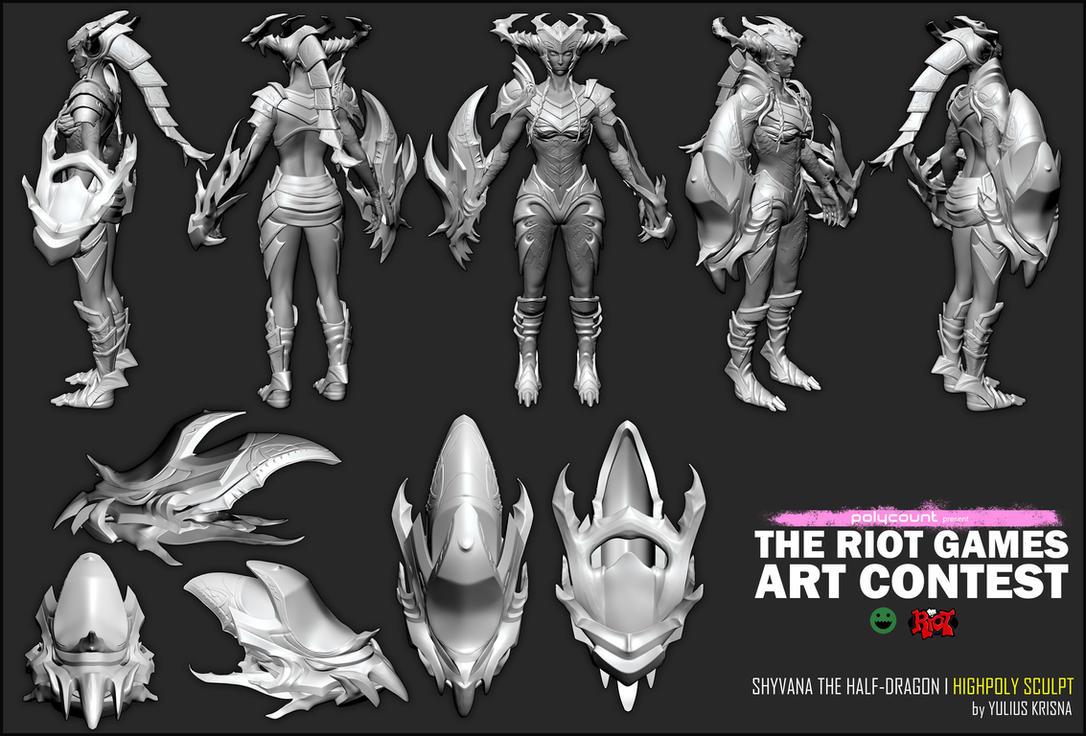 [WIP/4] Shyvana The Half-Dragon by YuliusKrisna
