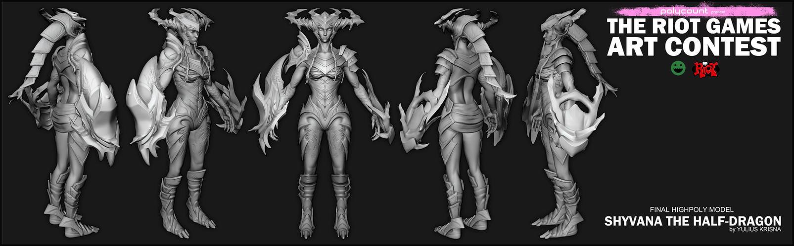[Final/HP]Shyvana The Half-Dragon by YuliusKrisna