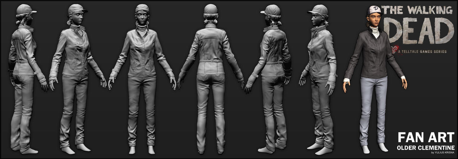 [WIP/2] Older Clementine from Telltale's TWD by YuliusKrisna