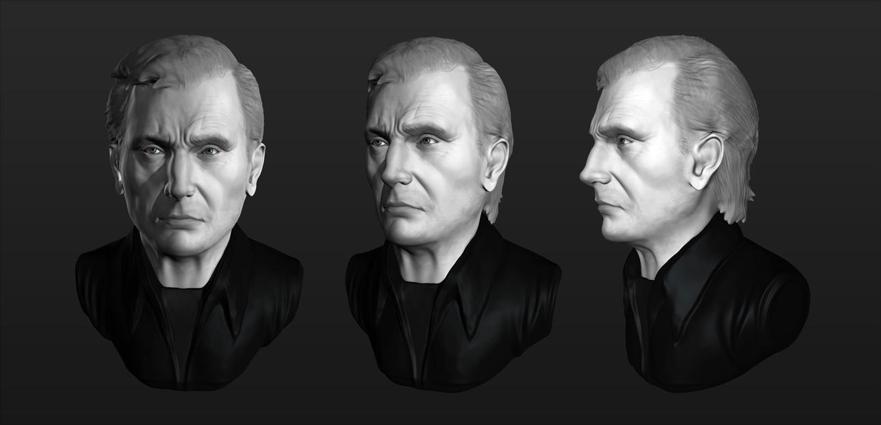 [Practice Sculpt] Liam Neeson by YuliusKrisna