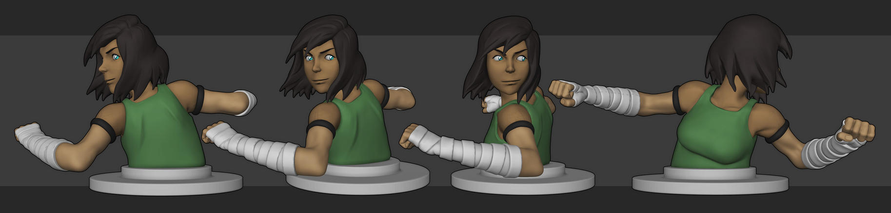 [WIP/2] Korra - Earth Kingdom Outfit by YuliusKrisna