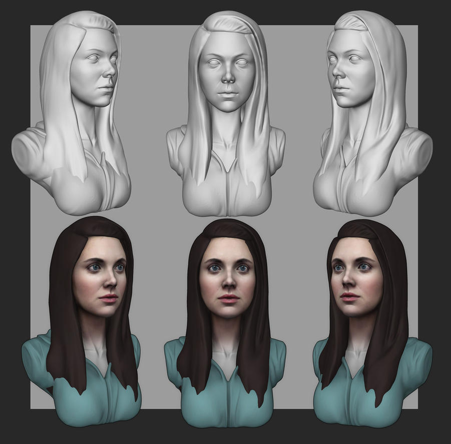 [WIP/1] Allison Brie by YuliusKrisna