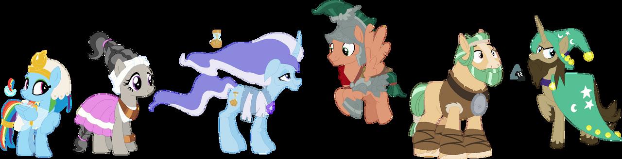 (AU) Pumpkin-Verse Pillars of Equestria
