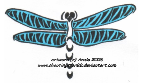 Tribal Dragonfly - dragonfly tattoo