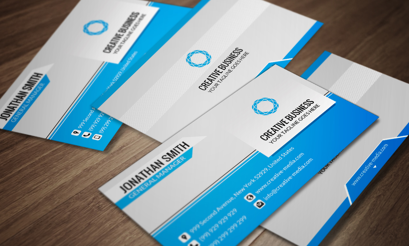 Corporate Business Card Template SE0027 by annozio on