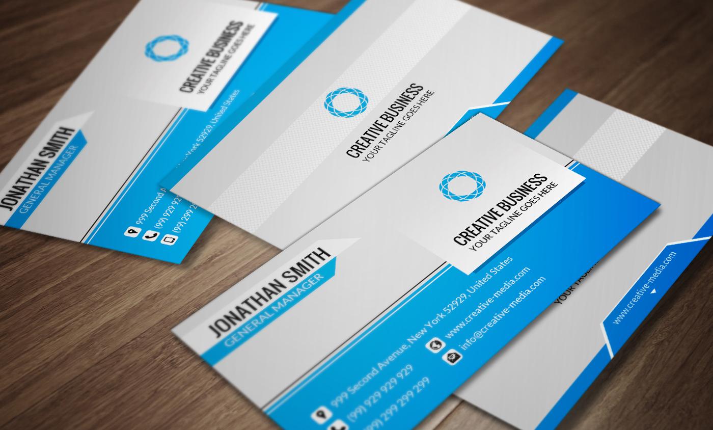 Corporate Business Card Template SE0027 by annozio on DeviantArt