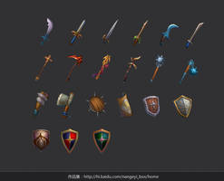 weapons by nangeyi