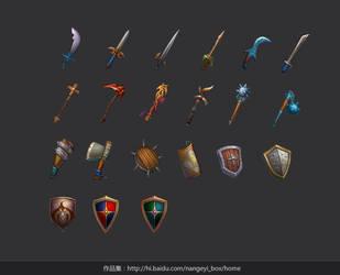 weapons by nangeyi