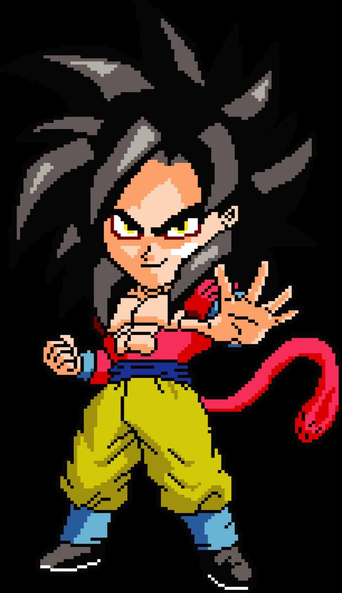 Goku Super Saiyan 4 Pixel Art By Wallacegamer On Deviantart